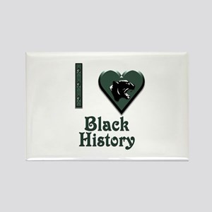 I Love Black History with Black Panther Rectangle