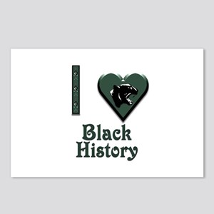 I Love Black History with Black Panther Postcards