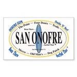 San Onofre Surf Spots Rectangle Sticker