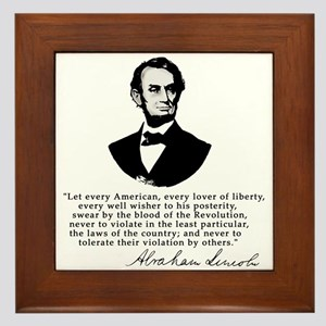 Remarkable Lincoln Law of the Land Quote Framed Ti