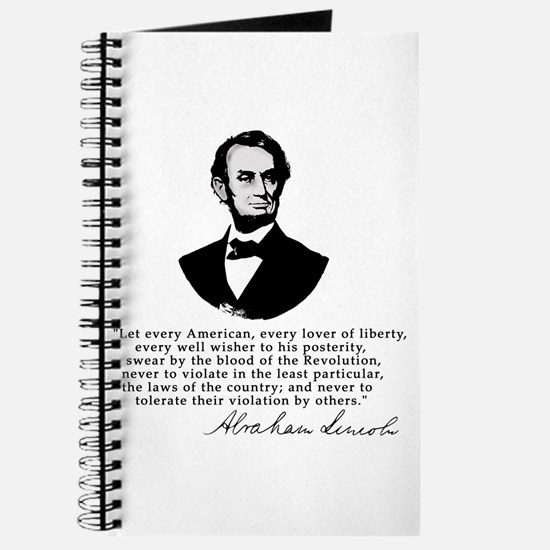 Remarkable Lincoln Law of the Land Quote Journal