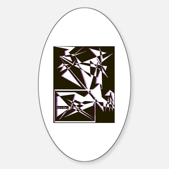 Peace in Unity Collection Oval Decal