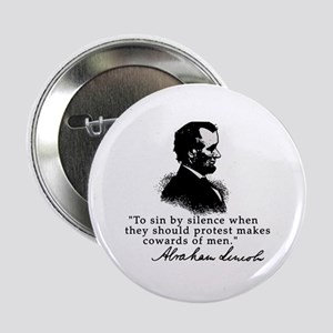 """Lincoln to Sin by Silence 2.25"""" Button"""