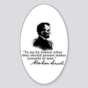 Lincoln to Sin by Silence Oval Sticker