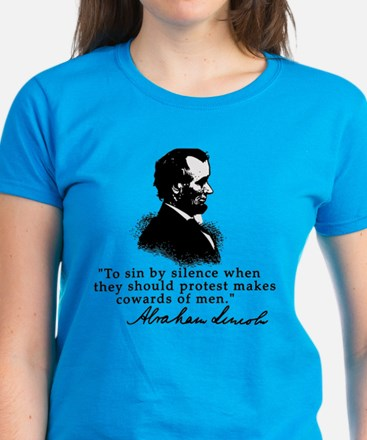 Lincoln to Sin by Silence Women's Dark T-Shirt