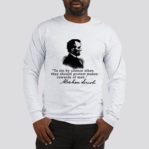 Lincoln to Sin by Silence Long Sleeve T-Shirt