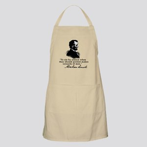 Lincoln to Sin by Silence BBQ Apron