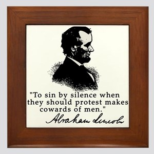 Lincoln to Sin by Silence Framed Tile