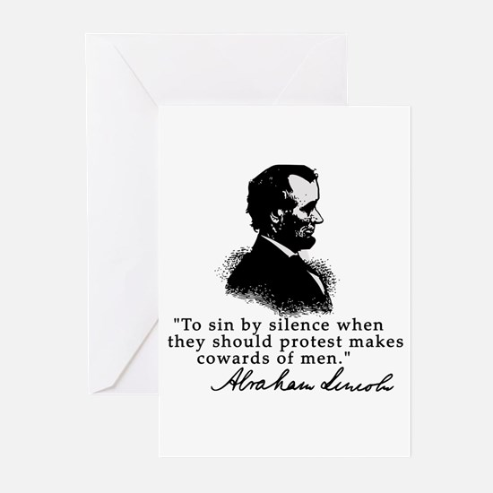 Lincoln to Sin by Silence Greeting Cards (Pk of 10