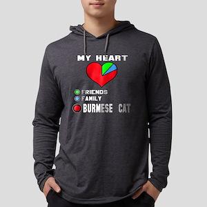 My Heart Friends, Family, burmes Mens Hooded Shirt