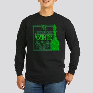 Prof. Wormwood Absinthe Long Sleeve Dark T-Shirt