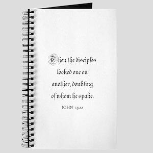 JOHN 13:22 Journal