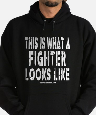 This is what a FIGHTER looks Hoodie (dark)