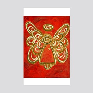 Red Angel Rectangle Sticker