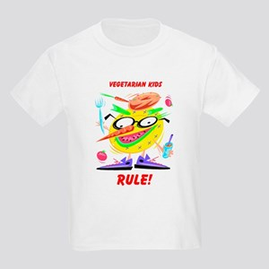 Vegetarian Kids Rule! Kids T-Shirt