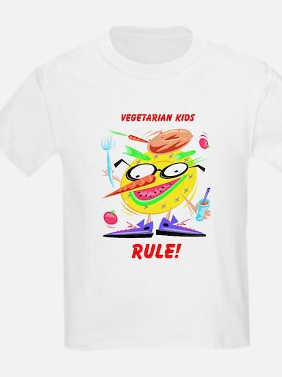 Vegetarian Kids Rule! Kids T-Shirt