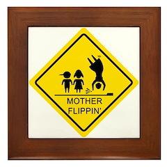 Mother Flippin' Yield Sign Framed Tile