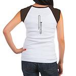 Woodcut Trombone Women's Cap Sleeve T-Shirt
