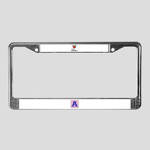 My Heart Friends, Family, afri License Plate Frame