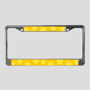 Retro Citrus Pattern License Plate Frame