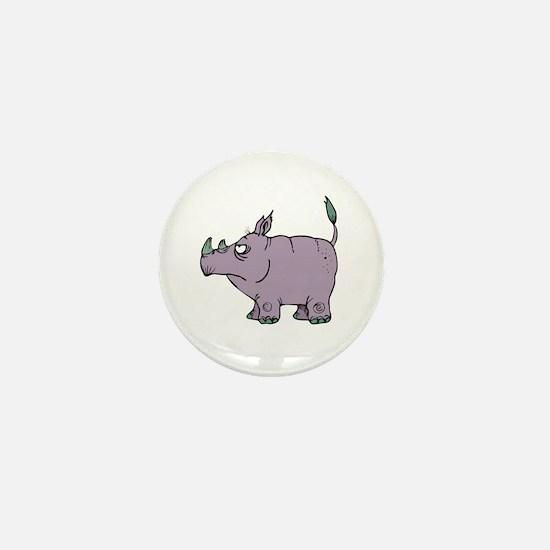 Stubborn Rhino Mini Button