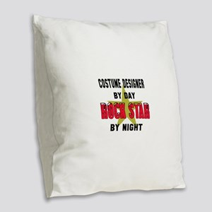 Costume designer By Day, Rock Burlap Throw Pillow