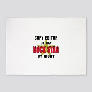 Copy editor By Day, Rock Star By ni 5'x7'Area Rug