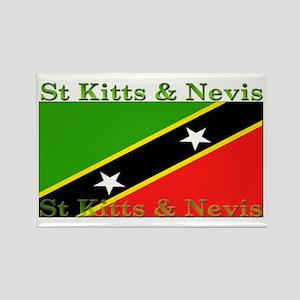 St Kitts & Nevis Rectangle Magnet