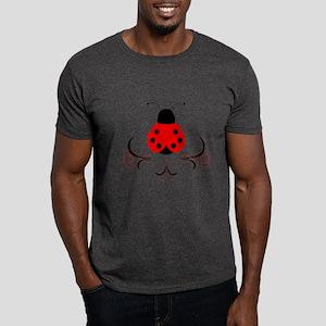 Cute Artsy Ladybug Dark T-Shirt
