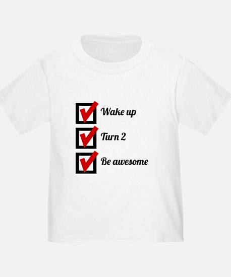 Awesome 2nd Birthday Checklist T-Shirt