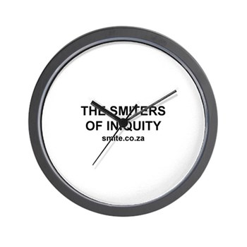 Smiters of Iniquity Wall Clock