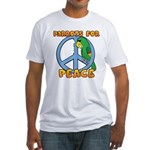Parrots for Peace Fitted T-Shirt