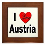 I Love Austria Framed Tile