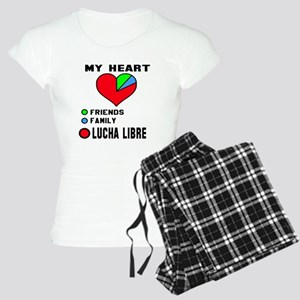 My Heart Friends, Family, L Women's Light Pajamas
