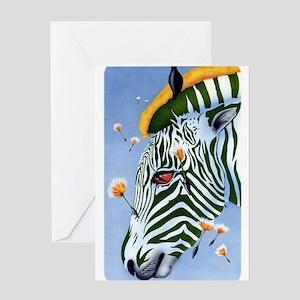 Zebra Breeze Greeting Card