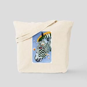 Zebra Breeze Tote Bag