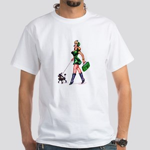 Poodle Girl - White T-Shirt