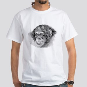 chimp White T-Shirt