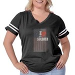 I Love My Soldier Women's Plus Size Football T-Shi