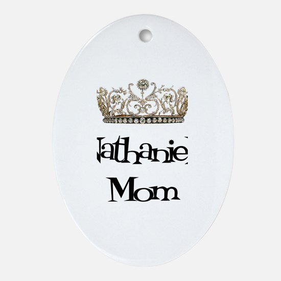 Nathaniel's Mom Oval Ornament