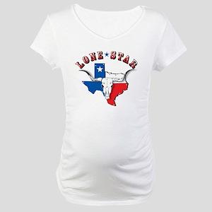 Lone Star Skull Maternity T-Shirt
