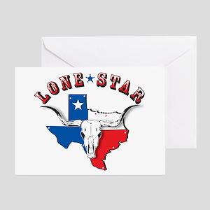 Lone Star Skull Greeting Card