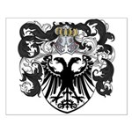 DeLeeuw Family Crest Small Poster