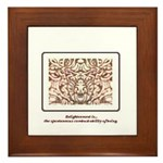 Enlightenment Is Collection Framed Tile