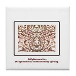Enlightenment Is Collection Tile Coaster