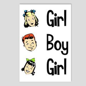 Girl Boy Girl Postcards (Package of 8)