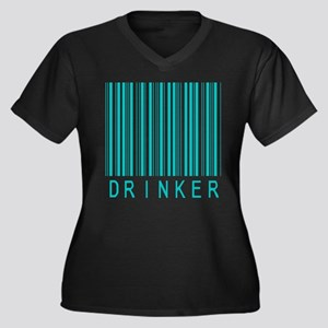 Drinker Women's Plus Size V-Neck Dark T-Shirt