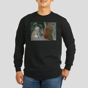 Patas Monkey Couple Long Sleeve Dark T-Shirt