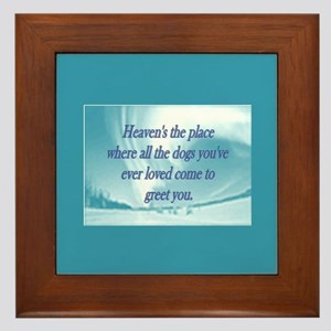 Dogs Heaven Framed Tile