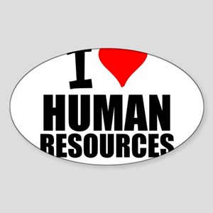 I Love Human Resources Sticker